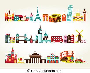 reizen toerisme, plaatsen