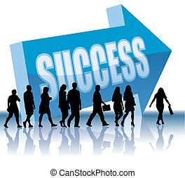 richting, -, succes