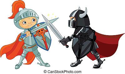 ridders, vecht
