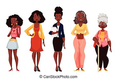 rijpheid, black , vrouwen, anders, jeugd, leeftijden