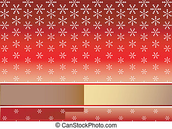 rode achtergrond, snowflakes, (vector), kerstmis
