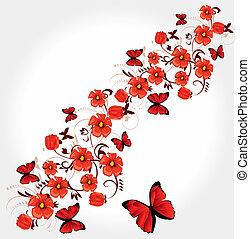 rode kaart, groet, romantische