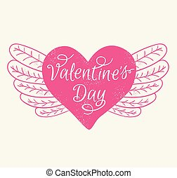 romaans, dag, kaart, valentine