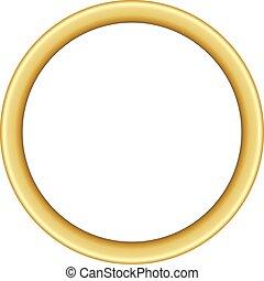 ronde, ontwerp, basis, gouden, frame