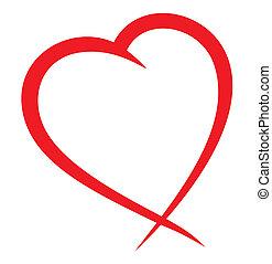 rood, vector, hart