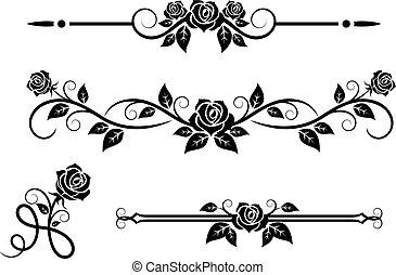 roos, bloemen, communie, ouderwetse