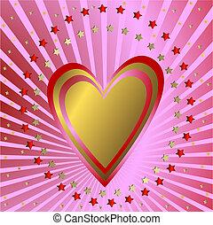 rooskleurige achtergrond, hart