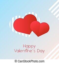 roze, blauw licht, valentines, achtergrond, hartjes, dag