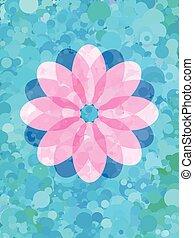 roze, blauwe bloem, model, fris, punt
