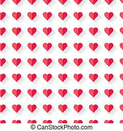 roze, hart, abstract, pattern., valentine