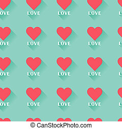 roze, hart, valentine, abstract, pattern., seamless