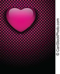 roze, heart., emo, valentines, black , glanzend, controleurs, dag