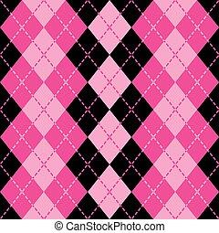 roze, verbruid, argyle, black
