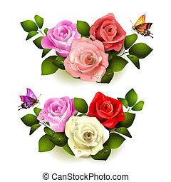 rozen, vlinder