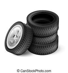 rubber, auto, black , wiel