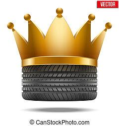 rubber, gouden kroon, vermoeien, realistisch