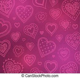 s, dag, achtergrond, valentijn