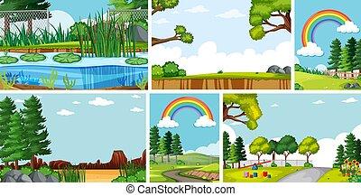 scènes, zes, natuur, plaatsen, anders
