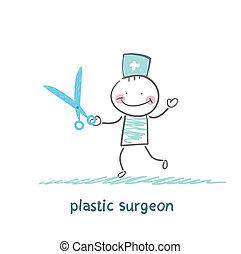 schaar, chirurg, plastic
