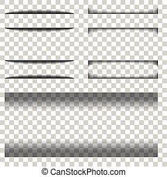 schaduw, papier, transparant, achtergrond