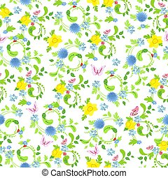 schattig, seamless, textuur, daffodils, ontwerp, floral, jouw