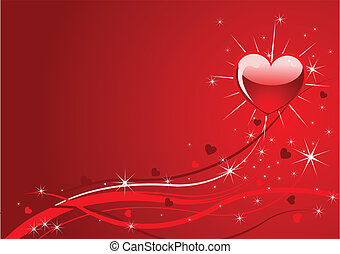 schittering, rode achtergrond, valentijn