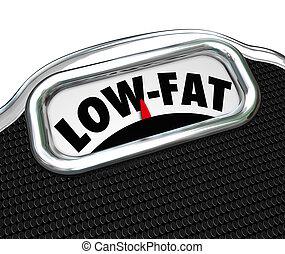 schub, hapjes, voedingsmiddelen, voedings, keuze, met laag vetgehalte, woorden