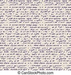 seamless, achtergrond, handschrift, abstract