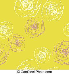 seamless, bloemen, textuur