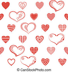 seamless, hart, valentijn