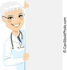 senior, het gluren, arts