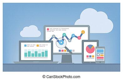 seo, web, concept, analytics