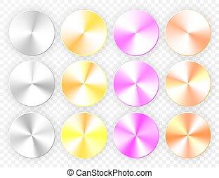 set, conic, illustratie, achtergrond., vector, gradients, transparant
