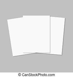 set, lijst, papieren
