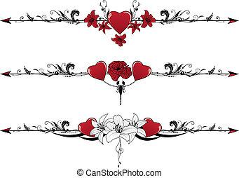 set, valentijn, randjes