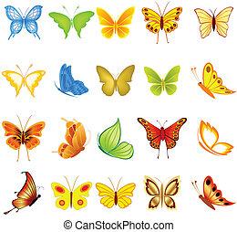 set, vlinder