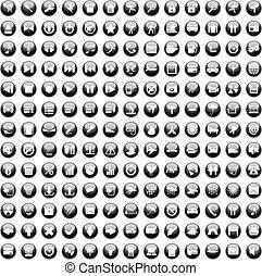 set170, 170, iconen, set