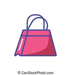 shoppen , achtergrond, zak, witte