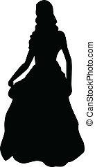 silhouette, prinsesje