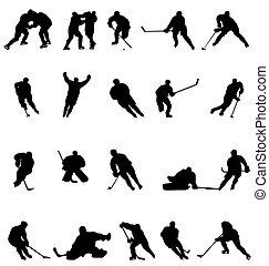 silhouettes, hockey, verzameling
