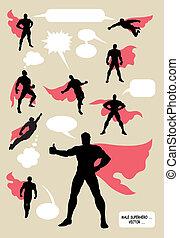 silhouettes, mannelijke , superhero