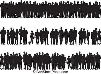 silhouettes, mensen