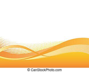 sinaasappel, dynamisch, achtergrond, swoosh