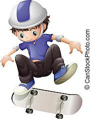 skating, jongen, jonge