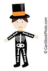 skelet, kostuum