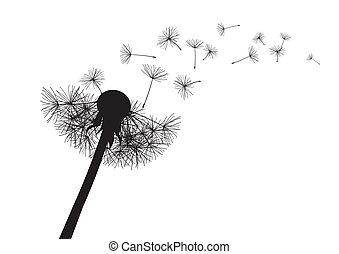 slag, vector, dandelion.