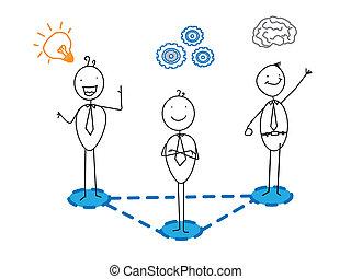 smart, idee, voortgang, goed, zakelijk