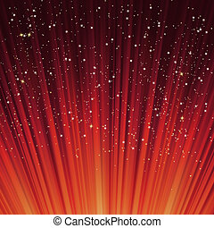 snowflakes, light., eps, sterretjes, steegjes, 8, rood