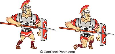 soldaat, romein, animatie, sprite