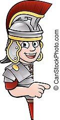 soldaat, romein, wijzende